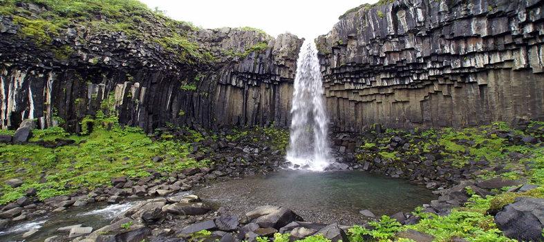 Islande cascade Svartifoss
