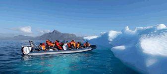 Arctique Groenland expédition en zodiac