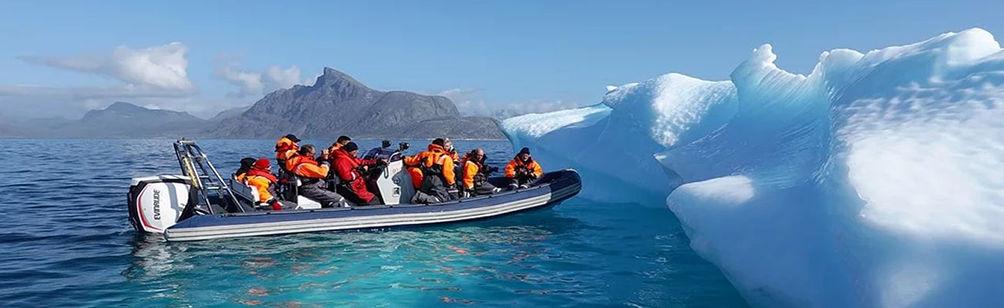Arctique Groenland sortie en zodiac